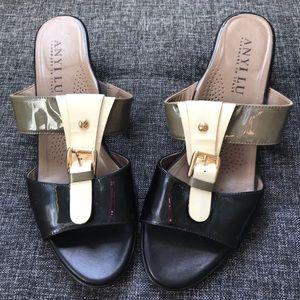 ANYI LIU Two Two wedge sandal